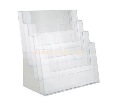 Custom wall 4 tiers acrylic brochure holder BHK-688