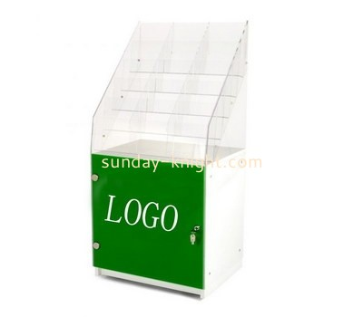 Custom multi pockets acryic pamphlet holder with cabinet BHK-686