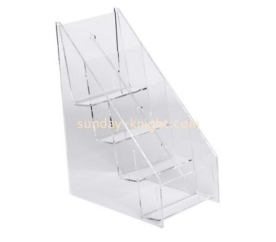 Custom 4 tiered acrylic literature holder BHK-700