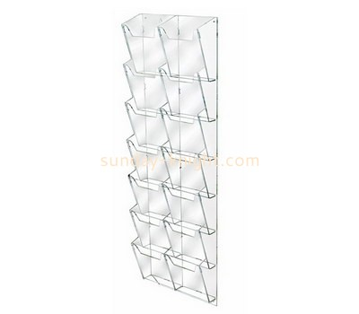 Custom wall multi pockets acrylic literature holders BHK-702