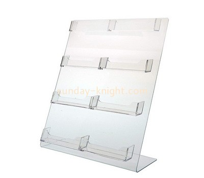 Custom 8 pockets acrylic business name cards holders BHK-709