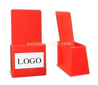Custom red acrylic pamphlet holder BHK-720