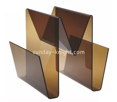 Custom brown acrylic magazine holders BHK-784