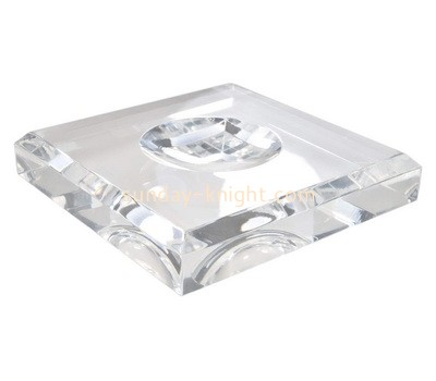 Custom clear acrylic beveled soap dish ABK-019