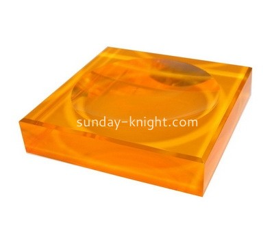 Custom orange acrylic soap dish ABK-040