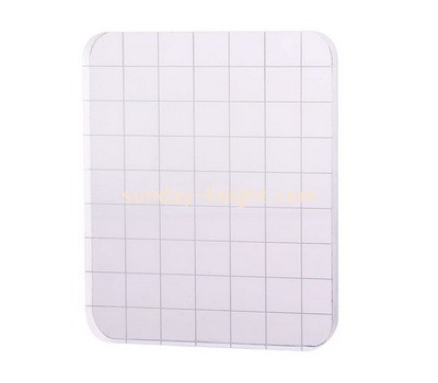 Custom acrylic stamping block with grids lines ABK-042