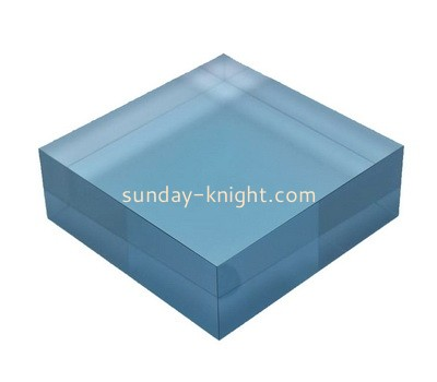 Custom blue acrylic display block ABK-048