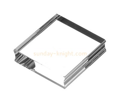 Custom clear acrylic stamp block with finger groove ABK-075