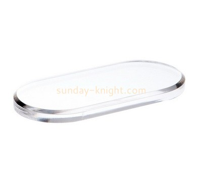 Custom oval lucite beveled display block ABK-104