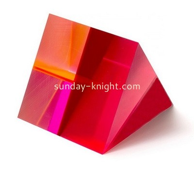 Custom neon red triangle acrylic display block ABK-126