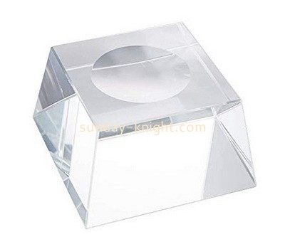 Custom clear acrylic soap dish cube ABK-127