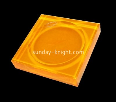Custom neon orange acrylic soap dish CAK-093