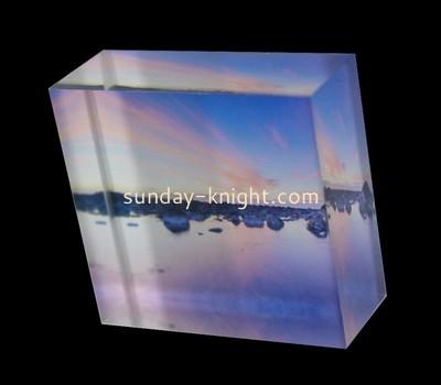 Custom laser cutting acrylic UV printing photo block CAK-124