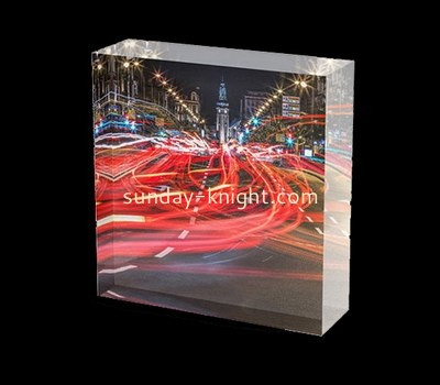 Custom laser cutting acrylic UV printing photo block CAK-150