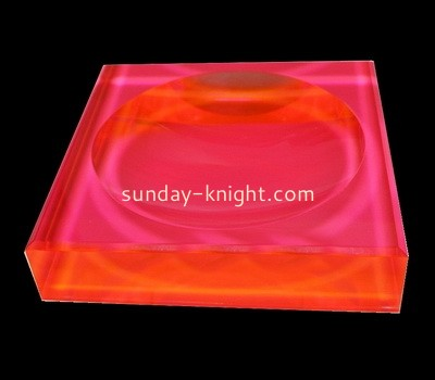 Custom laser cutting neon red acrylic soap dish CAK-201
