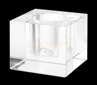 Custom laser cutting acrylic canlde holder cube CAK-224
