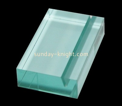 Custom blue acrylic sign block CAK-326