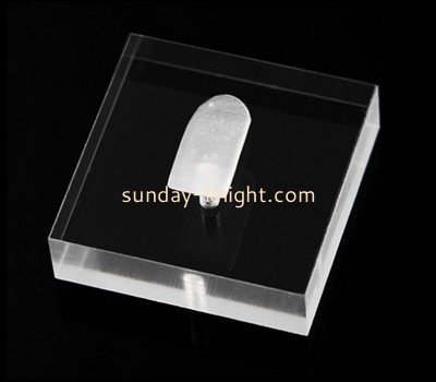 Custom laser cutting acrylic jewelry ring display block CAK-328