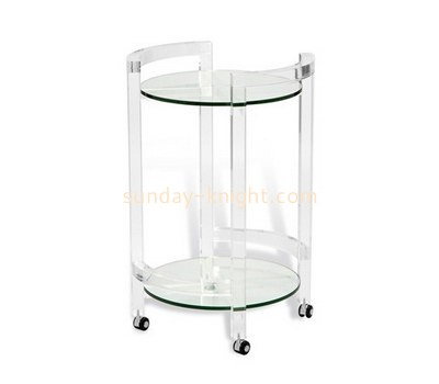 Custom 2 tiers round acrylic side table AFK-201